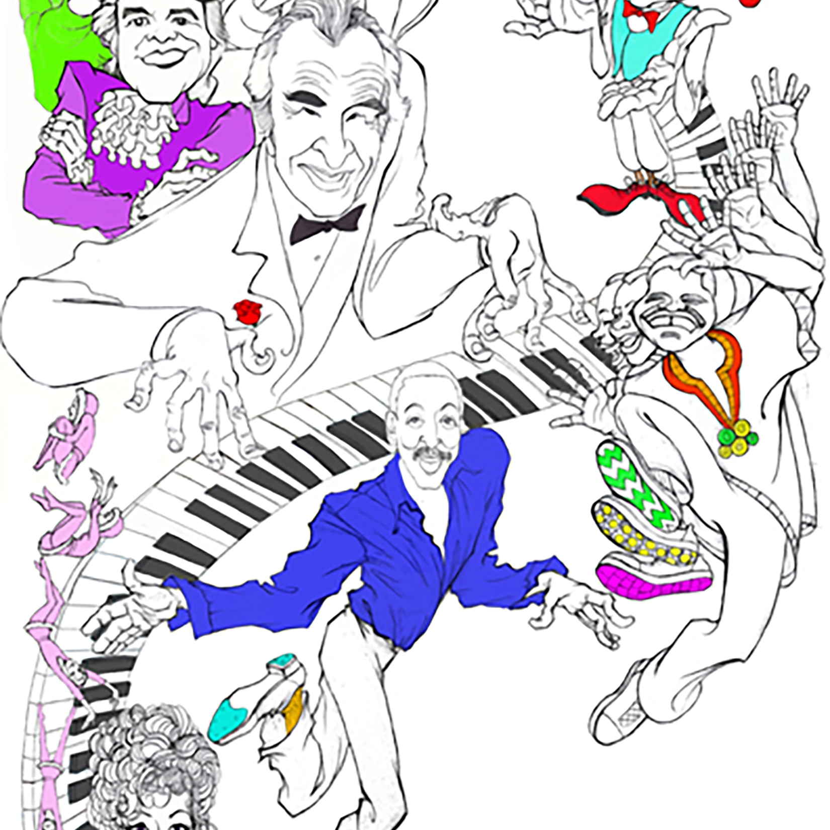 Drawings of the performers for Pepperdine University's Center for the Arts 2003-2004 season