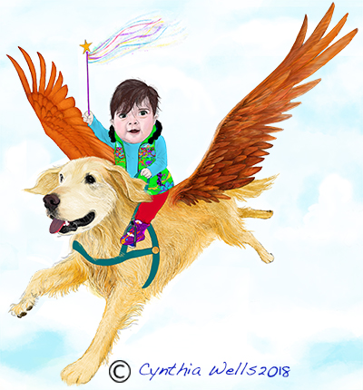 Emilia and Enzy Flying